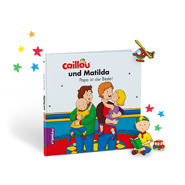 Personalisiertes Kinderbuch: Caillou.