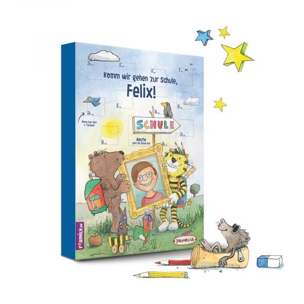 Personalisiertes Kinderbuch mit Titel:Janosch Countdown-Schulstart-Kalender