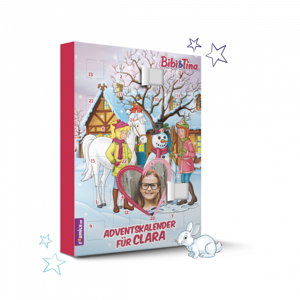 Personalisiertes Kinderbuch mit Titel: Bibi & Tina Adventskalender