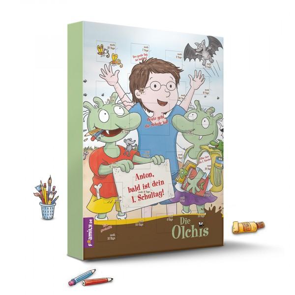 Die Olchis Schulstart-Kalender personalisiert